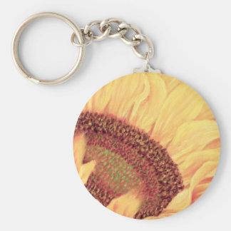 Sunflower Painting Flower Art - Multi Key Chain