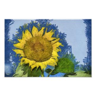 Sunflower painting photographic print