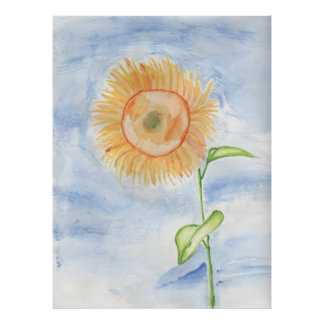 Sunflower Painting Poster