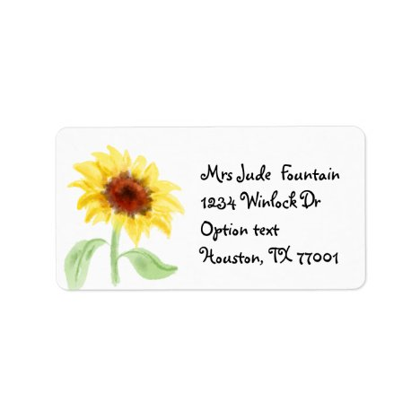 Sunflower painting Return Address Mailing Label