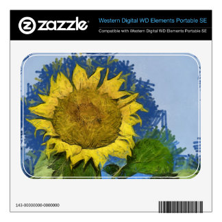 Sunflower painting WD elements SE skins