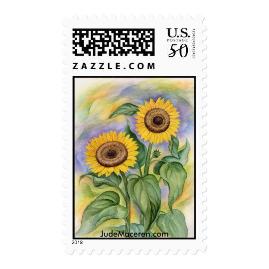 Sunflower Painting - Stamp