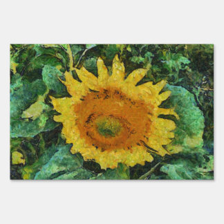 Sunflower painting yard signs