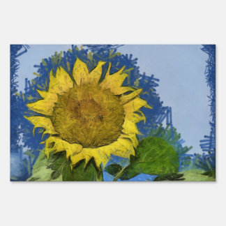 Sunflower painting sign