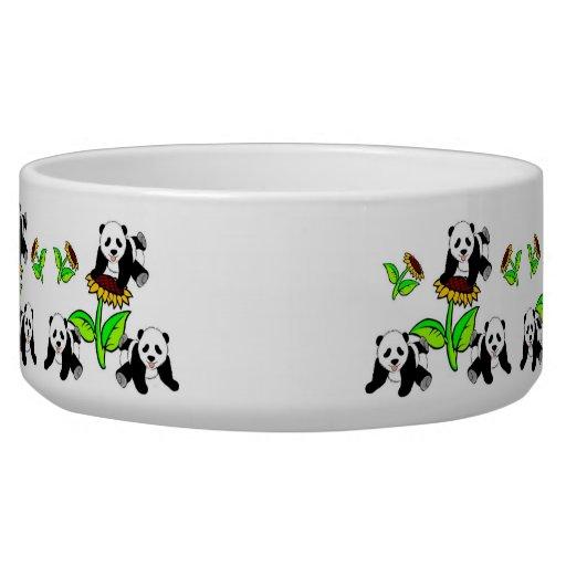 Sunflower Pandas Dog Water Bowls