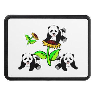 Sunflower Pandas Trailer Hitch Cover