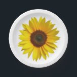"Sunflower Paper Plates<br><div class=""desc"">SUNFLOWER  A single sunflower. Memories of sunshine,  summer,  fun,  and maybe that trip to the south of France. Goes great with the Starry Night placemat.</div>"
