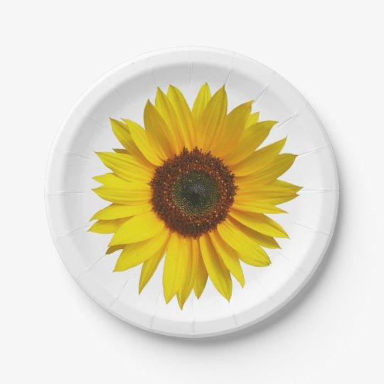 Sunflower Paper Plates  sc 1 st  Zazzle & Sunflower Paper Plates | Zazzle.com
