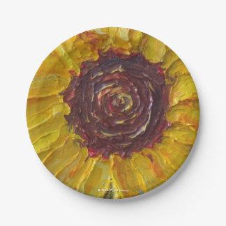 Sunflower Paper Plates by Paris Wyatt Llanso