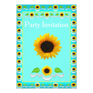 sunflower party invitations