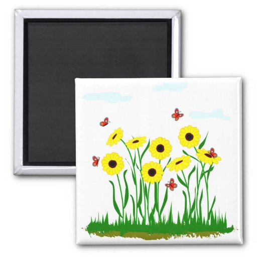 Sunflower Patch Magnet
