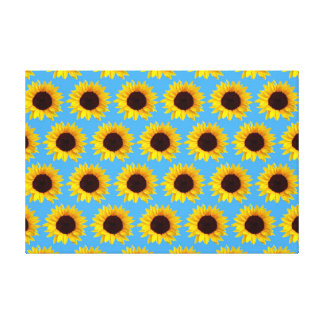 Sunflower Pattern Gallery Wrapped Canvas