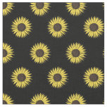 sunflower pattern fabric