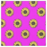 sunflower pattern fabric pink