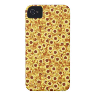 Sunflower pattern - gold, yellow and brown iPhone 4 Case-Mate case