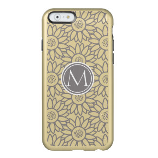 Sunflower Pattern Personalized Monogram Incipio Feather Shine iPhone 6 Case