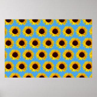 Sunflower Pattern Print