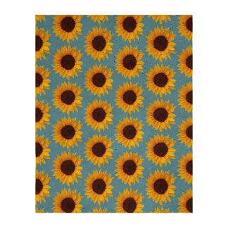 Sunflower Pattern Cork Fabric