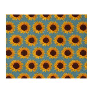 Sunflower Pattern Cork Paper Prints