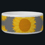 """Sunflower Pattern. Yellow and Gray. Bowl<br><div class=""""desc"""">This sunflower pattern has a gray background. A nice floral pattern.</div>"""