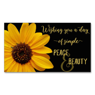Sunflower Peace & Beauty Magnetic Business Card