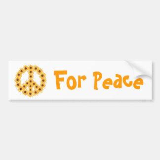 Sunflower Peace Sign bumper stickers