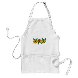 sunflower pentagrams adult apron