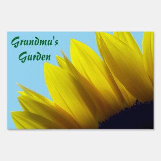 Sunflower Personalized Garden Sign