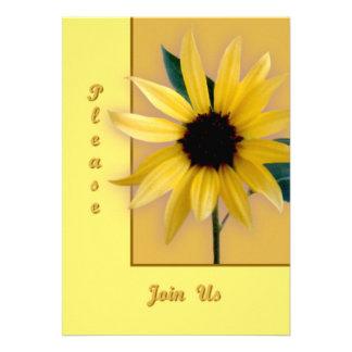 Sunflower Personalized Invitation