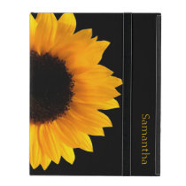 Sunflower Personalized iPad Case