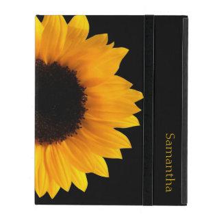 Sunflower Personalized Ipad Case at Zazzle