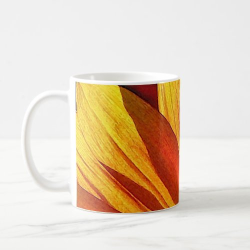 Sunflower Petals Abstract Mug