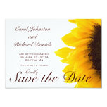 "Sunflower Photo Floral Save the Date Card 5"" X 7"" Invitation Card"