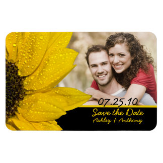 Sunflower Photo Wedding Save the Date Magnet Vinyl Magnet