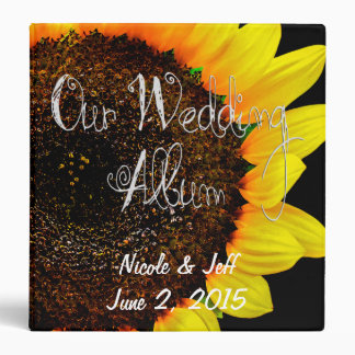 Sunflower Photography Custom Wedding Photo Album 3 Ring Binder