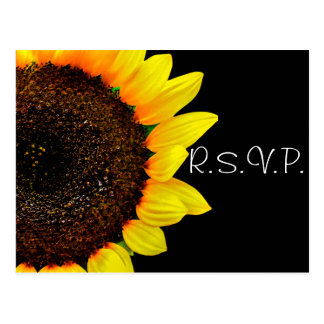 Sunflower Photography Custom Wedding RSVP Postcard