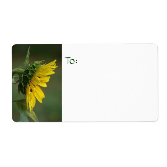 Sunflower Photography Label