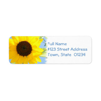 Sunflower Picture Mailing Label Return Address Label