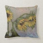Sunflower Pillow by Sue Barrasi Fine Art