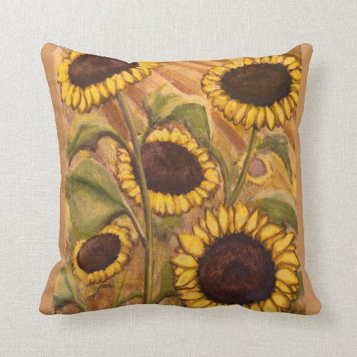 Decorative Pillows With Sunflowers : Sunflower Pillows Sunny Sunflower Pillows & Decor Zazzle