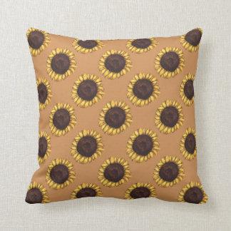 Throw Pillows With Sunflower Design : Sunflower Pillows - Decorative & Throw Pillows Zazzle