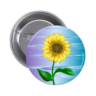 Sunflower Pinback Button