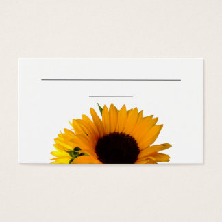 """Sunflower Place Card (3.5"""" x 2.0"""", 100 pack)"""