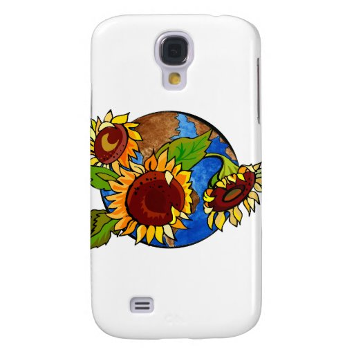 Sunflower Planet Galaxy S4 Covers