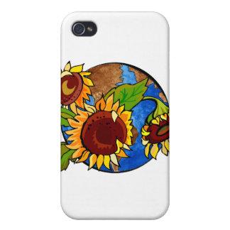 Sunflower Planet iPhone 4 Case