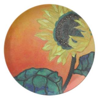 Sunflower Plates