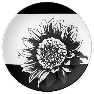 Sunflower Plate Porcelain Plates