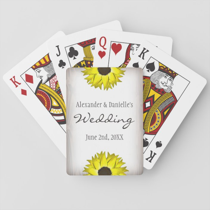 sunflower playing card wedding favors  zazzle