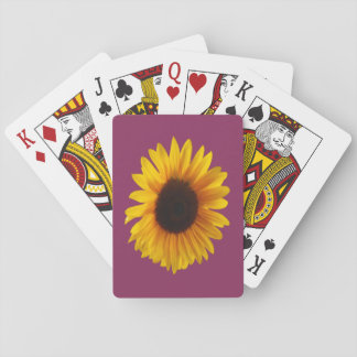 Sunflower Playing Cards (Gold And Raspberry)