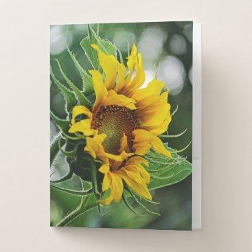 Beach Themed Sunflower Pocket Folder